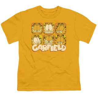 Garfield/Many Faces Short Sleeve Youth 18/1 in Gold