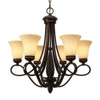 Golden Lighting Torbellino Bronze Steel/Glass 6-light Chandelier