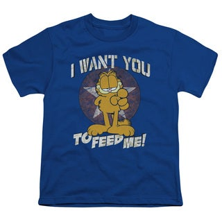 Garfield/I Want You Short Sleeve Youth 18/1 in Royal