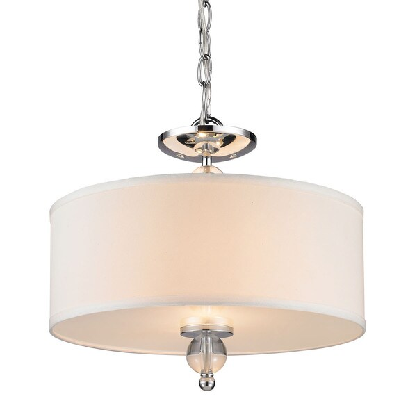 Laurel Designs Chrome 2-light Semi-flushmount Lamp