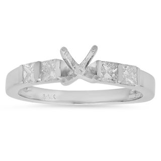 14k White Gold 2/5ct TDW Princess Diamond Bridal Semi Mount Engagement Ring (H-I, I1-I2)