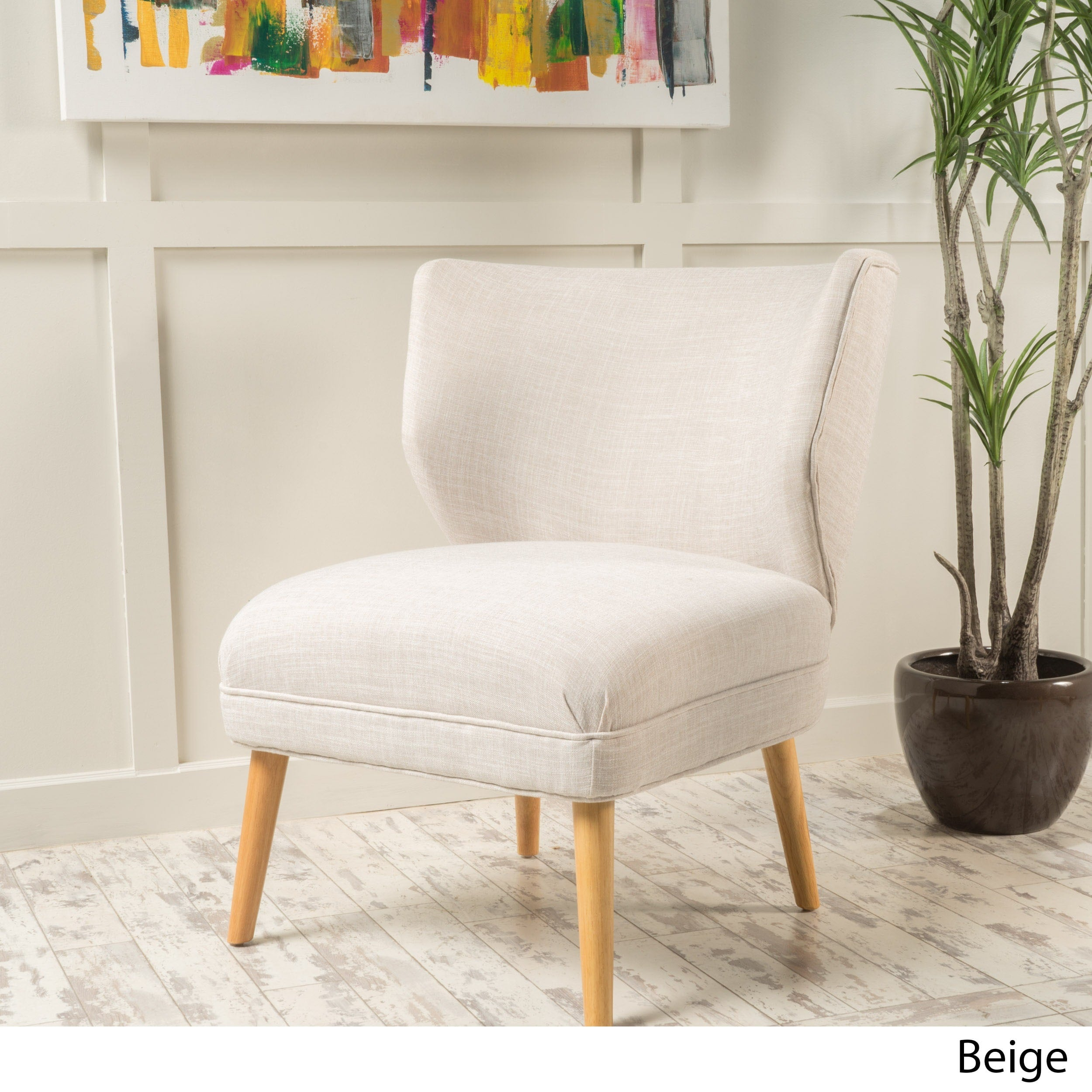 Desdemona Mid-century Fabric Accent Chair by Christopher Knight Home ...