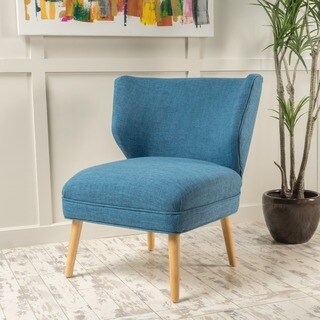 Desdemona Mid-Century Fabric Accent Chair by Christopher Knight Home