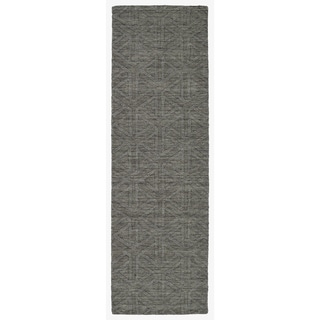 Trends Charcoal Prism Wool Rug (2'6 x 8'0)