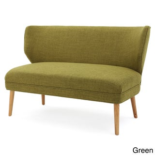 Desdemona Mid-Century Fabric Loveseat by Christopher Knight Home (Option: Green)