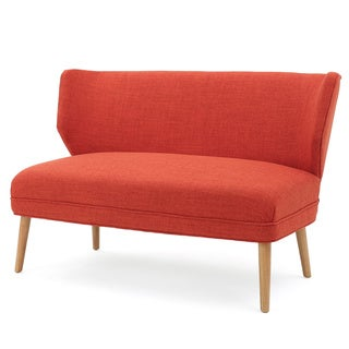 Desdemona Mid-Century Fabric Loveseat by Christopher Knight Home