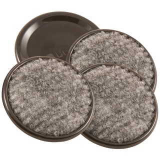 """Waxman Consumer Group 4291895N 1-5/8"""" Gray Round Carpet Caster Cup 4-ct"""