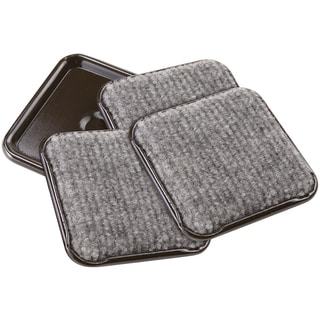 """Waxman Consumer Group 4291995N 2-1/2"""" Gray Square Caster Cups 4-ct"""