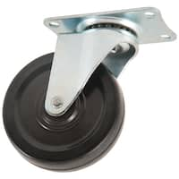 "Waxman Consumer Group 4384155 4"" Black Rubber Plate Swivel Caster"