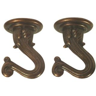"Westinghouse 7045300 1-1/2"" Antique Copper Swag Hooks"