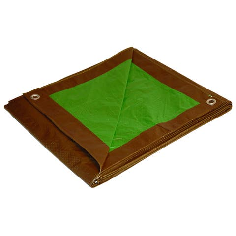 Foremost Dry Top Tarp Brown Green 11012 10' X 12' Reversible Polyethylene Tarp