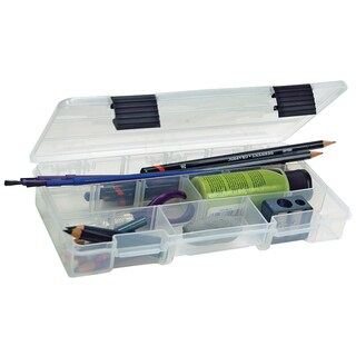 "Plano 2-3500-88 9-1/8"" X 5"" X 1-1/4"" Magenta Plastic Latch Utility Box"