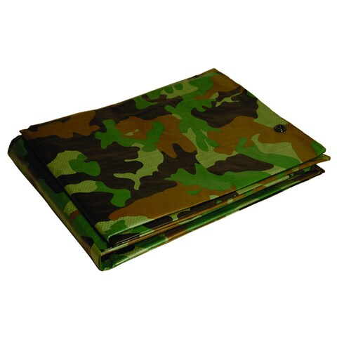 Foremost Dry Top Tarp Camouflage 40810 8' X 10' 7 Mil Green Tarp
