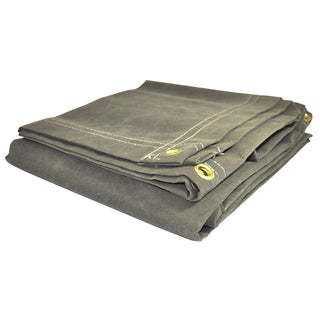 Foremost Dry Top Tarp Canvas 61216 12' X 16' Olive Canvas Tarp