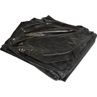 Foremost Dry Top Tarp Drawstring 50066 6' X 6' Black Tarp With Drawstring