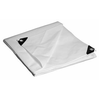Foremost Dry Top Tarp White 31824 18' X 24' Heavy-Duty UV Treated Dry Top Tarp