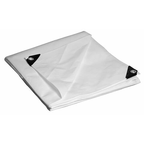 Foremost Dry Top Tarp White 31020 10' X 20' Heavy-Duty UV Treated Dry Top Tarp