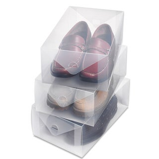 Whitmor 6362-2692-3 3-ct Clear Plastic Mens Boot Boxes