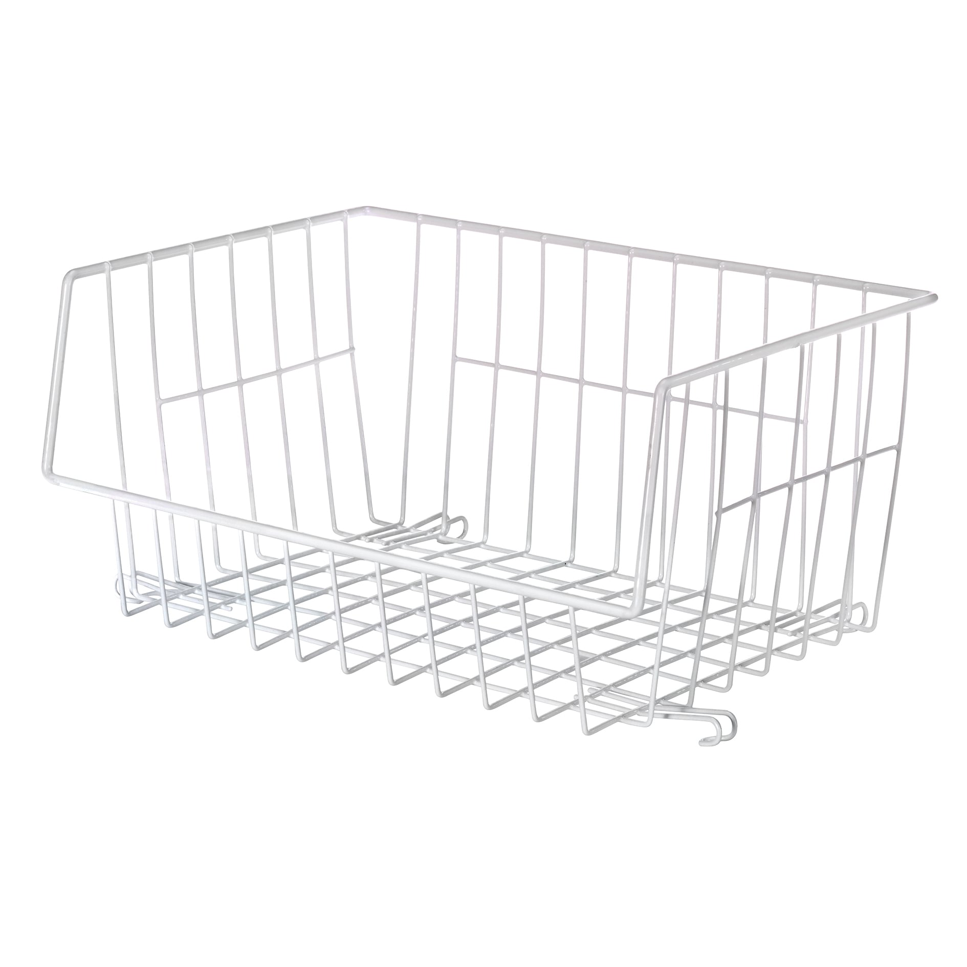 Whitmor Mfg Co 6450-1589-6 White Wire Stackable Basket (C...