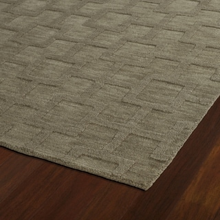 Trends Taupe Geo Wool Rug (2'6 x 8')