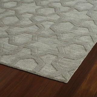 "Trends Grey Geo Wool Rug (2'6"" x 8')"