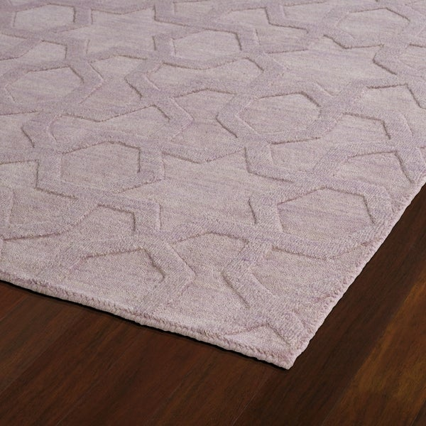 Trends Lilac Geo Wool Rug - 2'6 x 8'