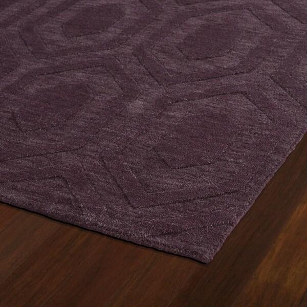 Trends Purple Loft Wool Rug (2'6 x 8')