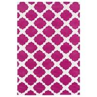 Littles Pink Geo Microfiber Rug - 4' x 6'