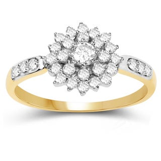 Olivia Leone 14k Yellow Gold 2/5ct TDW White Diamond Ring
