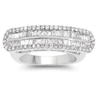 Olivia Leone 14k White Gold 7/8ct TDW White Diamond Ring (G-H, SI1-SI2)