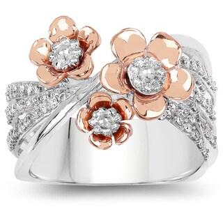 Olivia Leone 14k Two-tone Gold 1/3ct TDW Diamond Ring (G-H, SI1-SI2)