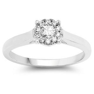 Olivia Leone 14k White Gold 1/4ct TDW White Diamond Ring