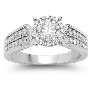 Olivia Leone 14k White Gold 3/4ct TDW White Diamond Ring