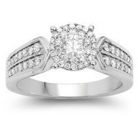 Olivia Leone 14k White Gold 3/4ct TDW White Diamond Ring