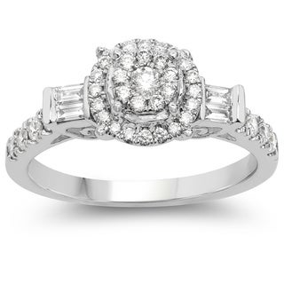 Olivia Leone 14k White Gold 3/5ct TDW Diamond Ring (G-H, SI1-SI2)