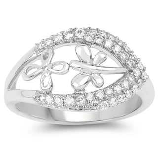 Olivia Leone 14k White Gold 3/8ct TDW Diamond Ring