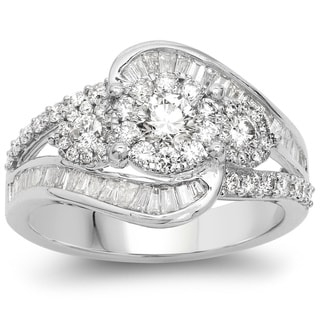 Olivia Leone 14k White Gold 1 1/3ct TDW Diamond Ring (G-H, SI1-SI2)
