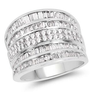 Olivia Leone 14k White Gold 1 3/5ct TDW White Diamond Ring (G-H, SI1-SI2)
