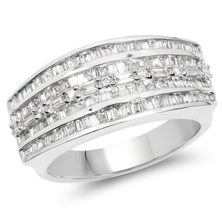 Olivia Leone 14k White Gold 1 1/4ct TDW Diamond Ring (G-H, SI1-SI2)