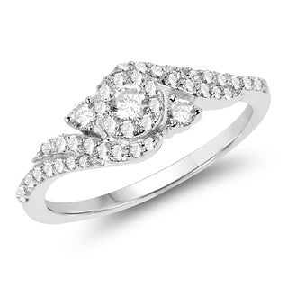 Olivia Leone 14k White Gold 2/5ct TDW Diamond Ring