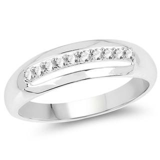 Olivia Leone 14k White Gold 1/6ct TDW Diamond Ring (G-H, SI1-SI2)