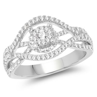 Olivia Leone 14k White Gold 3/4ct TDW Diamond Ring