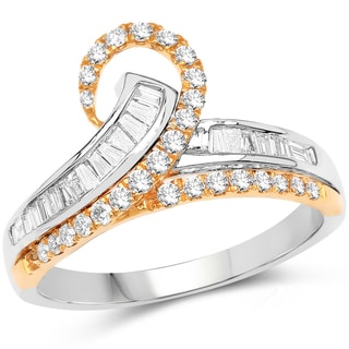 Olivia Leone 14k Two-tone Gold 5/8ct TDW Diamond Ring (G-H, SI1-SI2)