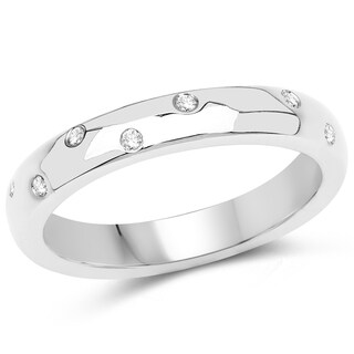 Olivia Leone 14k White Gold 1/5ct TDW Diamond Ring (G-H, SI1-SI2)