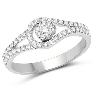 Olivia Leone 14k White Gold 3/8ct TDW Diamond Ring (G-H, SI1-SI2)