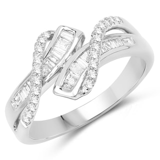 Olivia Leone 14k White Gold 2/5ct TDW Diamond Ring (G-H, SI1-SI2)