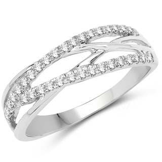 Olivia Leone 14k White Gold 1/4ct TDW Diamond Ring (G-H, SI1-SI2)