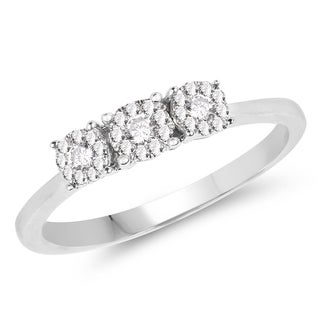 Olivia Leone 14k White Gold 1/5ct TDW Diamond Ring