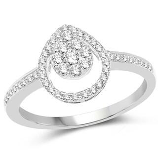 Olivia Leone 14k White Gold 3/8ct TDW Diamond Ring (G-H, SI1-SI2)