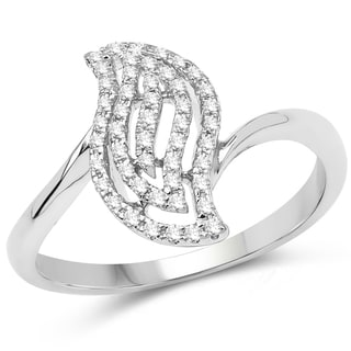 Olivia Leone 14k White Gold 1/5ct TDW Diamond Ring (G-H, SI1-SI2)